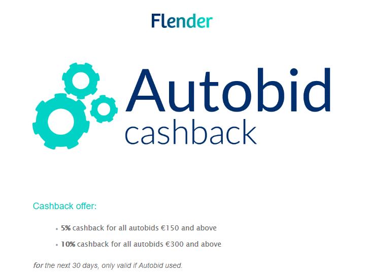 Flender Autoinvest Cashback